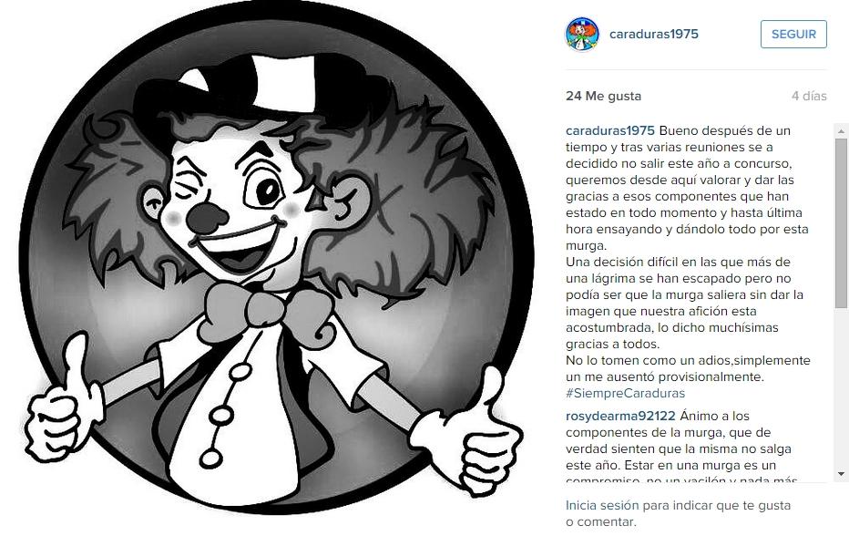 """2015-10-12 12_08_50-Murga Los Caraduras en Instagram_ """"Bueno después de un tiempo y tras varias reun"""