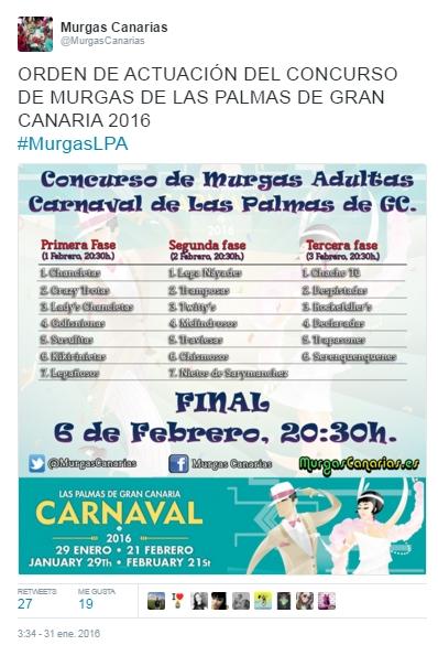 2016-03-21 00_09_41-Murgas Canarias en Twitter_ _ORDEN DE ACTUACIÓN DEL CONCURSO DE MURGAS DE LAS PA