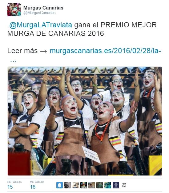 2016-03-21 00_10_24-Murgas Canarias en Twitter_ _.@MurgaLATraviata gana el PREMIO MEJOR MURGA DE CAN