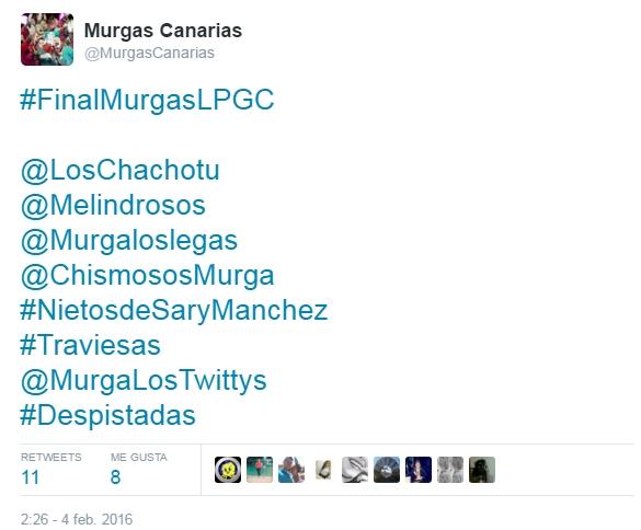 2016-03-21 00_12_17-Murgas Canarias en Twitter_ _#FinalMurgasLPGC @LosChachotu @Melindrosos @Murgalo