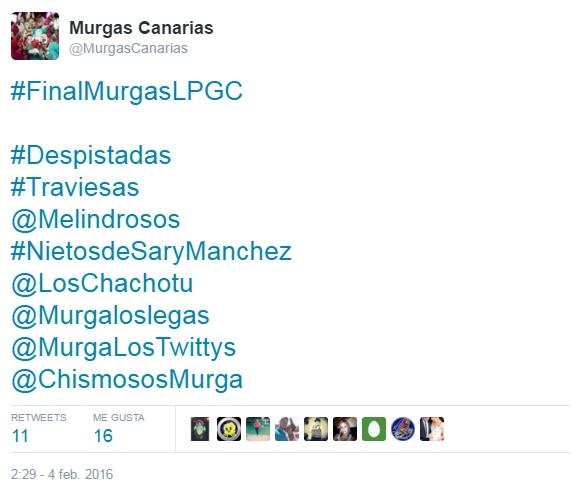 2016-03-21 00_12_41-Murgas Canarias en Twitter_ _#FinalMurgasLPGC #Despistadas #Traviesas @Melindros