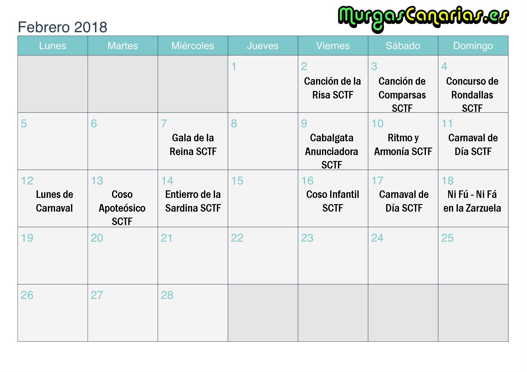 febrero tf 2018